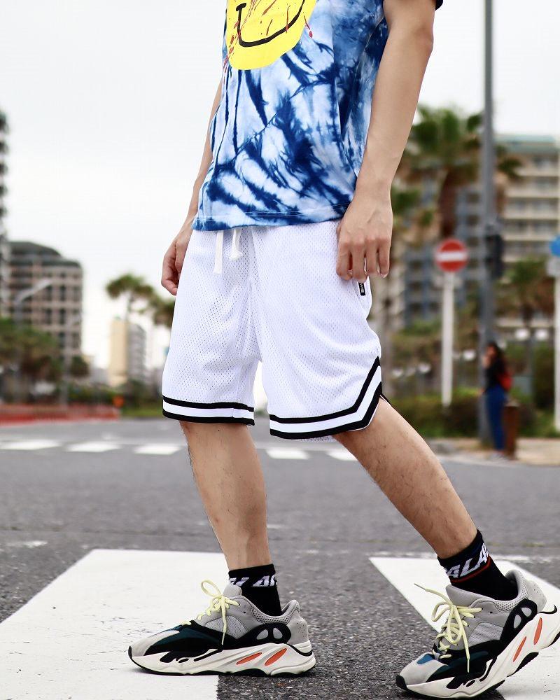 バスケットサルエルメッシュショートパンツ ハーフパンツ メンズの商品画像3